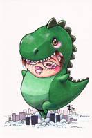 AO 2012 Commission - Chibisaurus by AnimeGirlMika