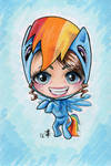 AO 2012 Commission - Rainbow Dash Suit