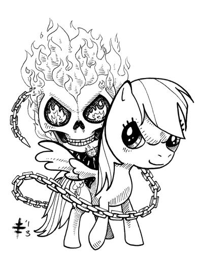Tomo Commission 8 - Ghost Rider Rainbow Dash by AnimeGirlMika