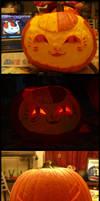 2013 Halloween Pumpkins - Nyanko and Zoro