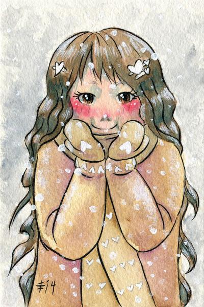 Happy Snow Girl