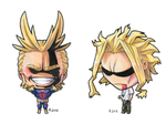 Chibi All Might and Chibi True Form All Might