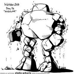 Inktober - Day Sixteen: ANGULAR by AnimeGirlMika