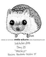 Inktober - Day Twenty-Five: PRICKLY by AnimeGirlMika