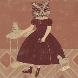 Owl by joannaillustrations