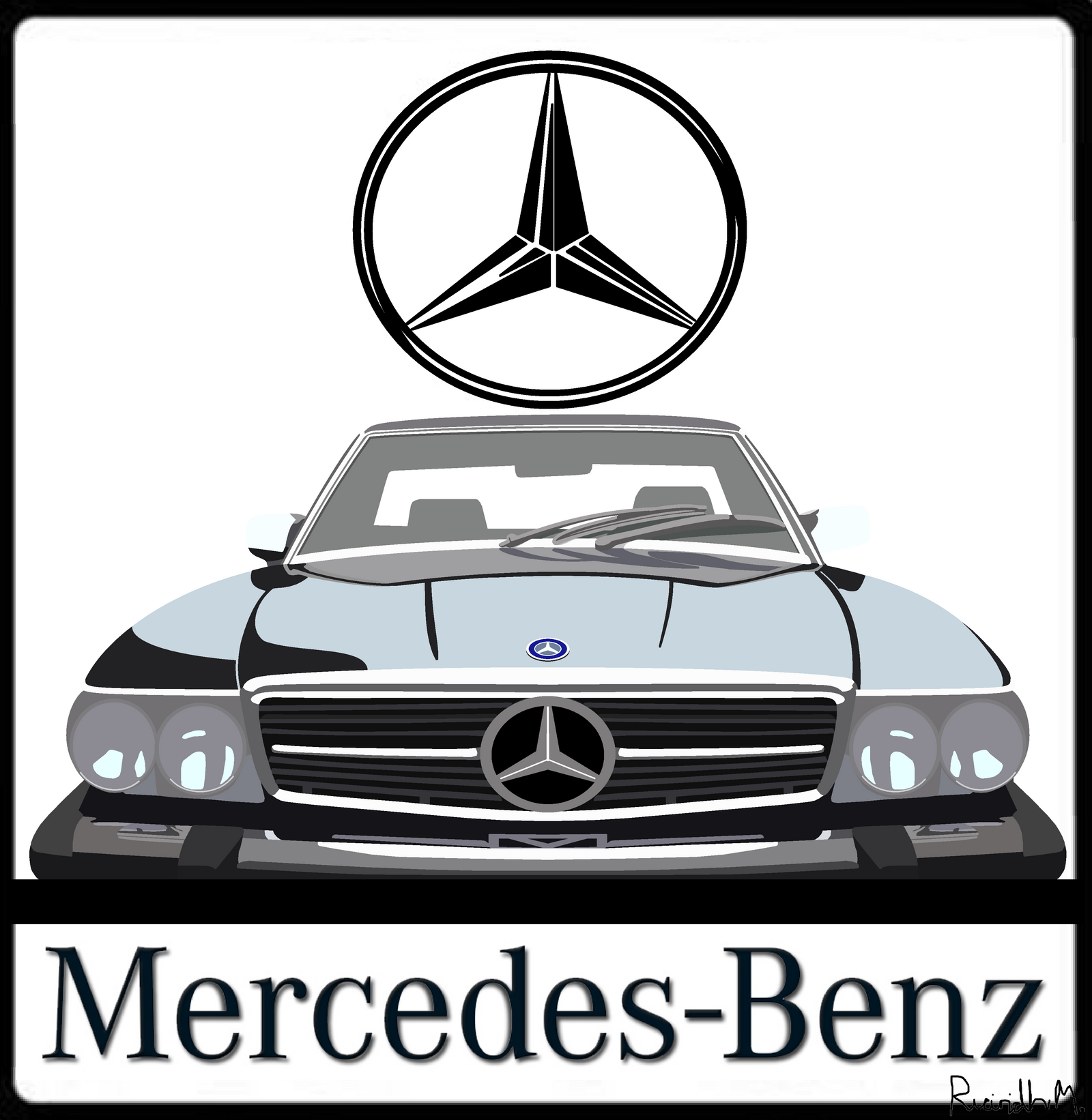 Mercedes benz 560sl shirt logo by the transport guild on for Mercedes benz shirts