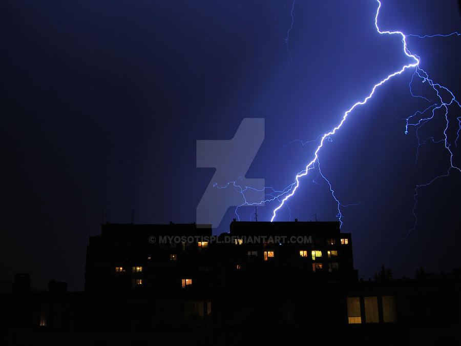 The storm and lightning...