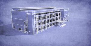 Blueprint render exterior 2 in Sketchup