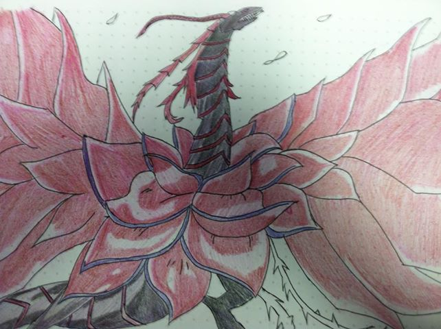 how to draw a rose dragon art