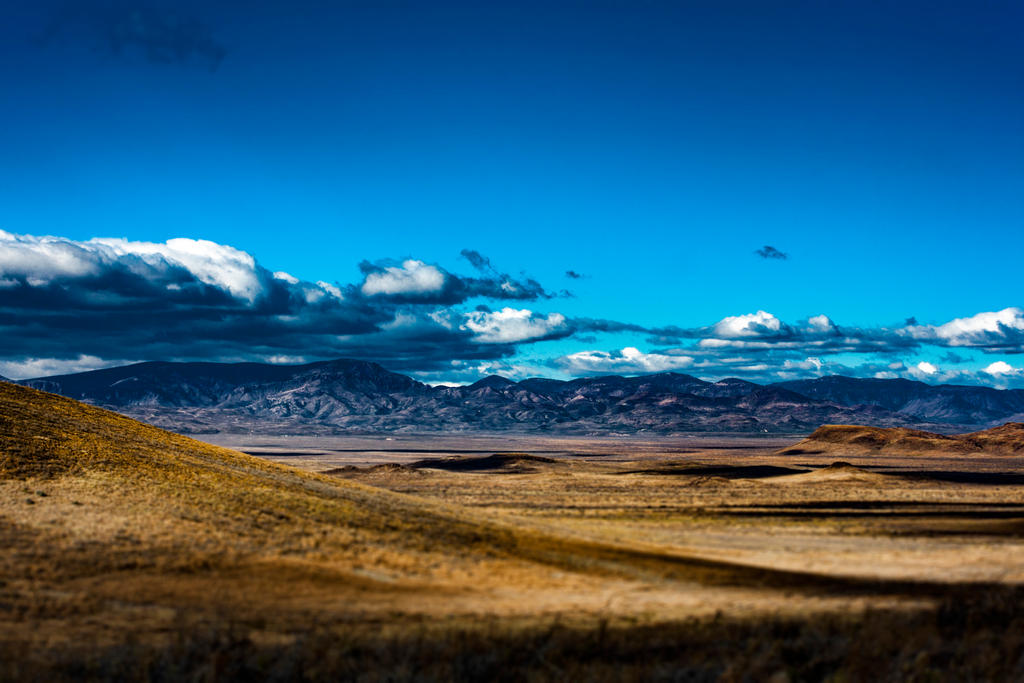 Mountains in the distance by sydneythecoherent