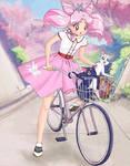 20th Century Senshi - 1950's Chibi-Usa and kitties