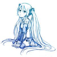 Miku sketch by Chizzachan