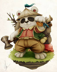 Uncle Panda by Chizzachan