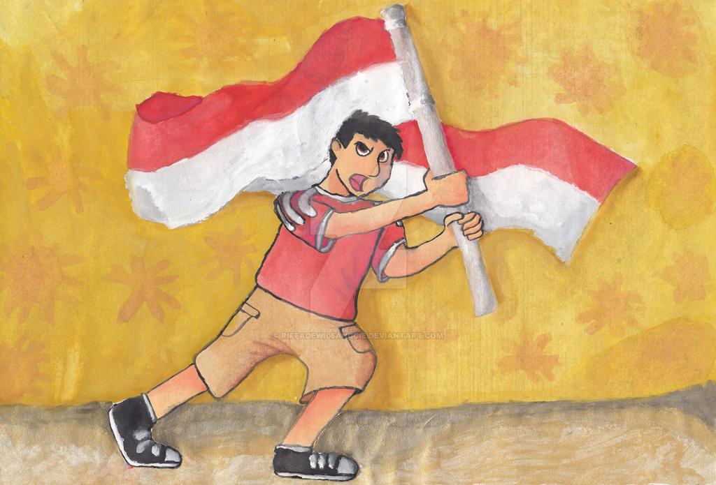Sukarno Dan Bendera Indonesia By Riffadewi05anggie On Deviantart