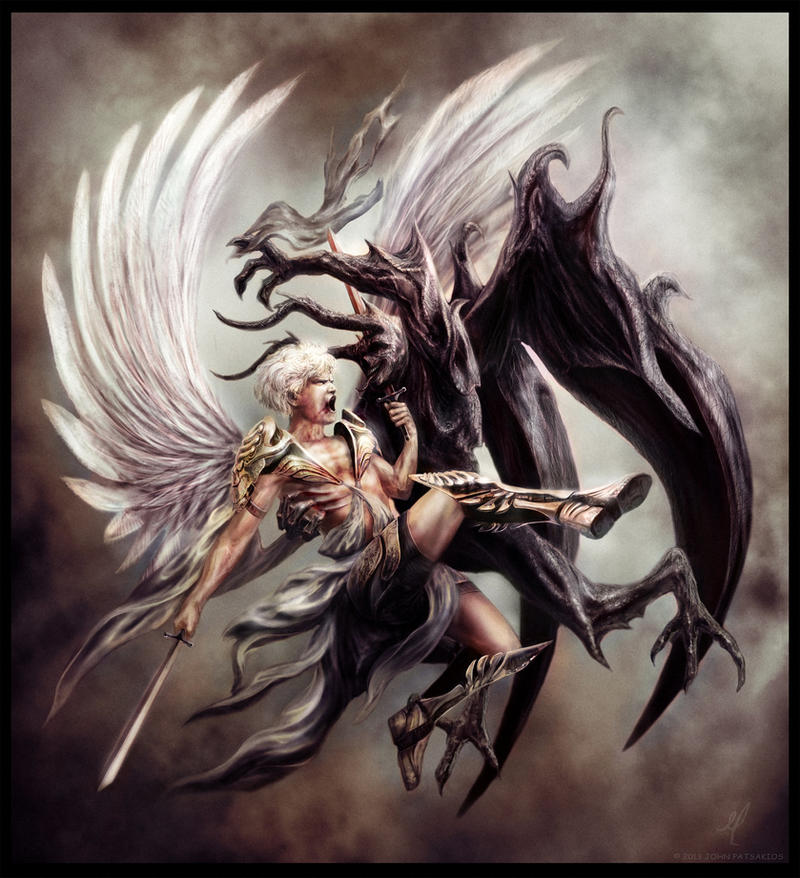 Angel Vs Demon by JohnPatsakios on DeviantArt