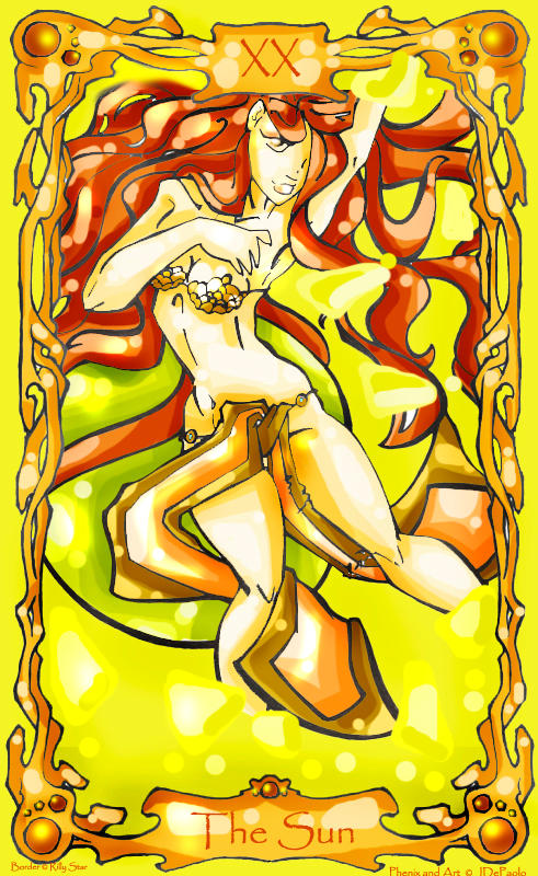 Phenix- Tarot Card: The Sun by jala
