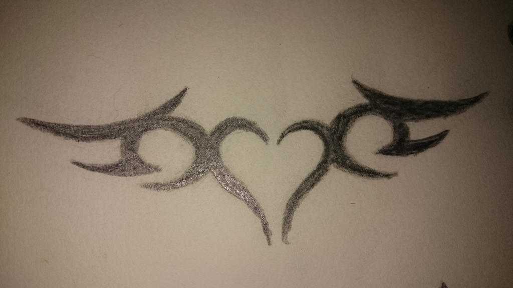 Tribal Heart Wings by GorgeousNytmare on DeviantArt