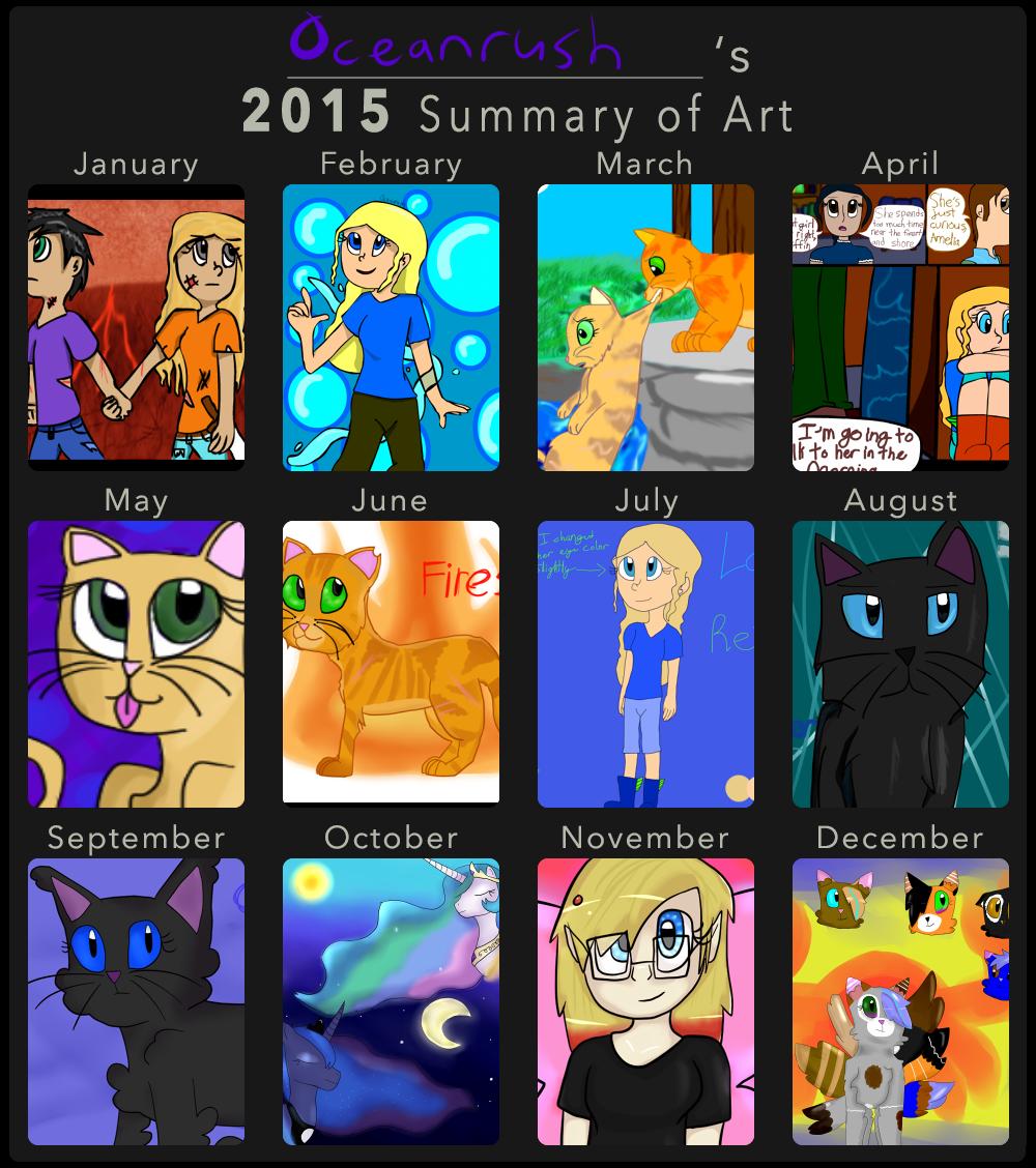 2015 Art Summary by Oceanrush