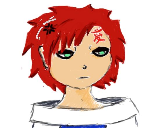 Gaara Annoyed expression by HiNatari on deviantART