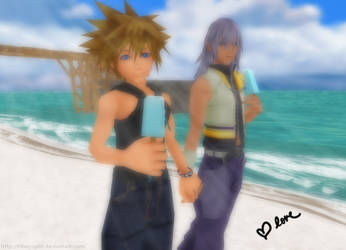 Hand in hand - SoRiku by tifany1988