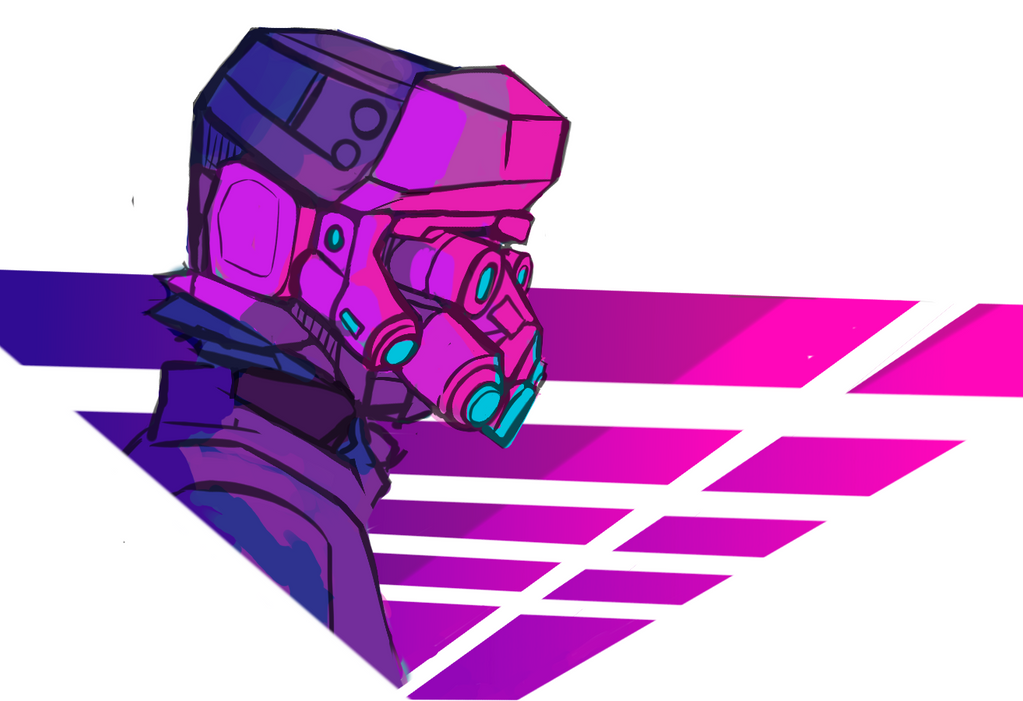 Outrun Helmet by terminarch