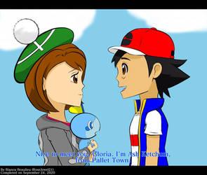 Ash meets Gloria