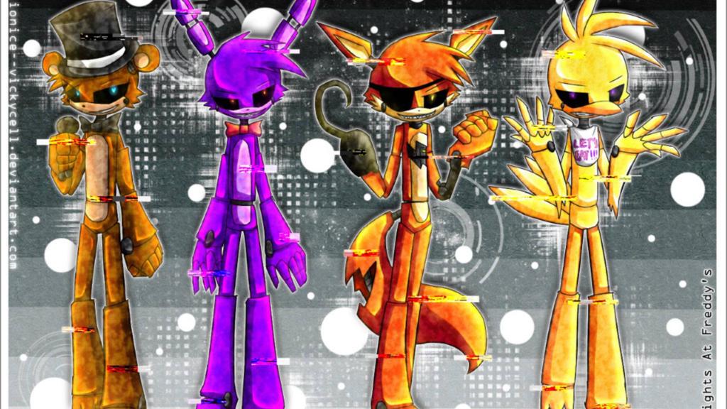 Fnaf characters anime by xxxkawaiio3oxxx on deviantart
