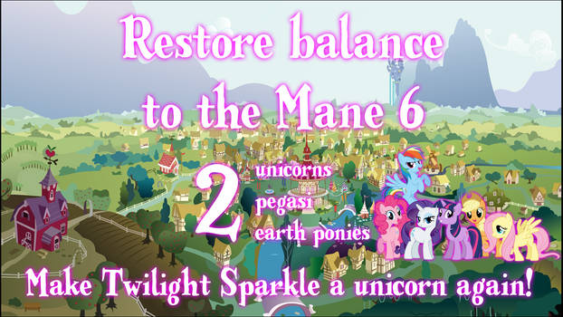 Restore the balance