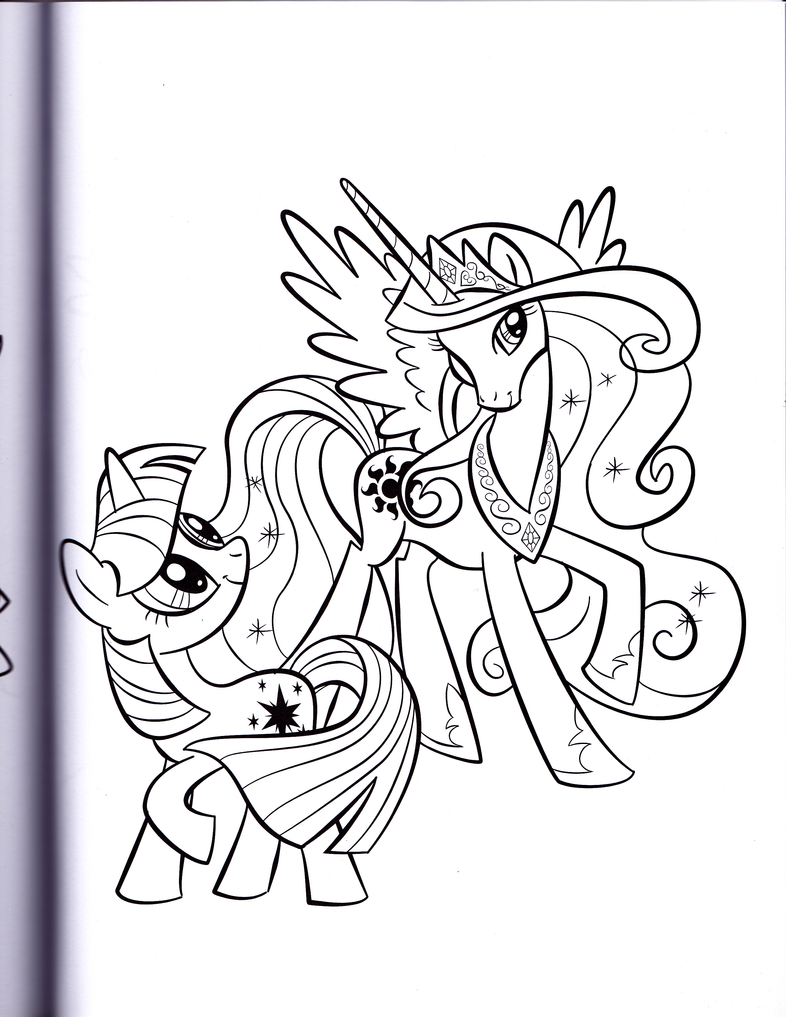 Twilight and Princess Celestia (MLP Coloring book) by kwark85 on ...