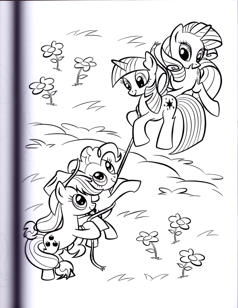 Twilight and Rarity (MLP Coloring Book) by kwark85 on DeviantArt