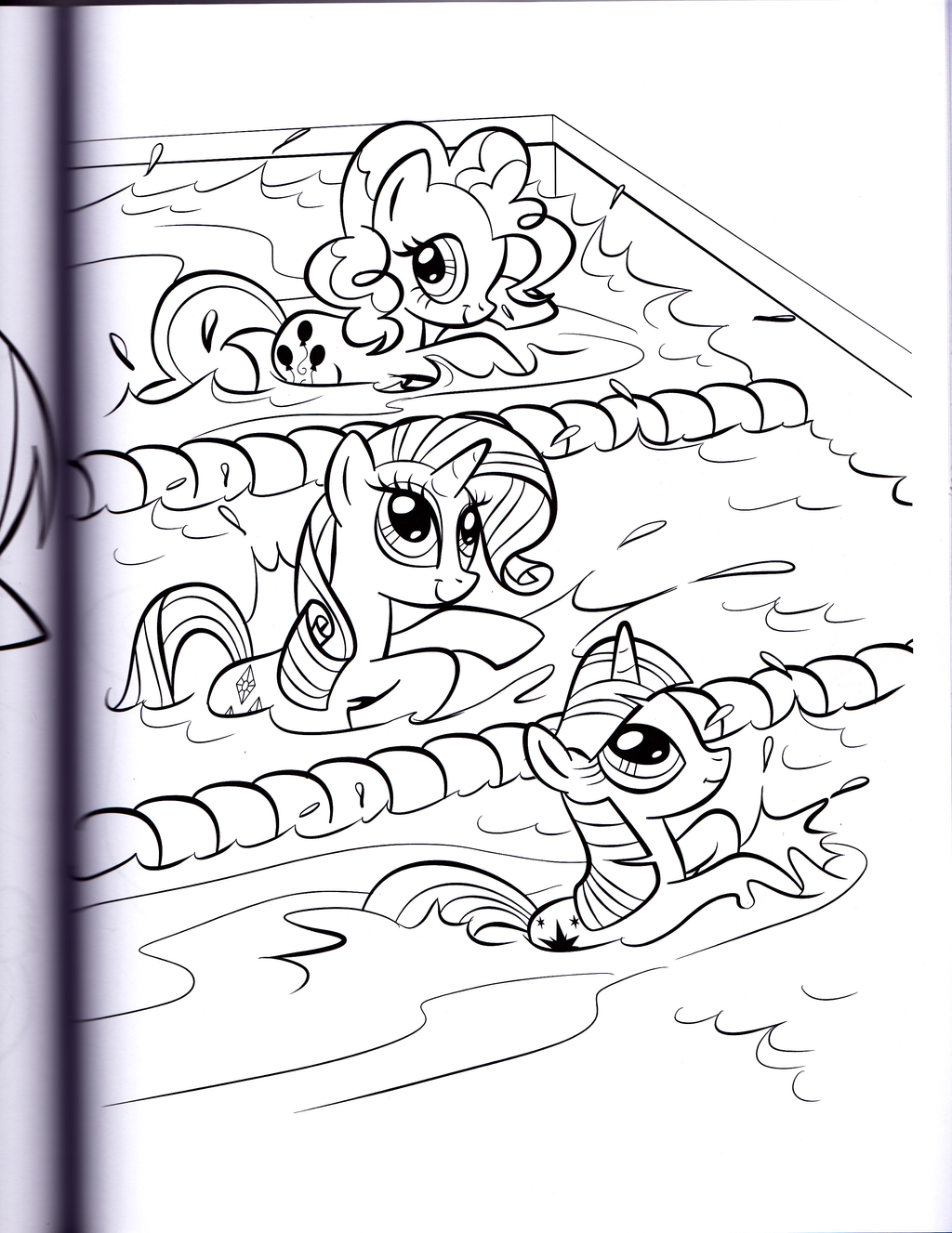 rarity and pinkie swimming mlp coloring book by kwark85 - Mlp Coloring Book