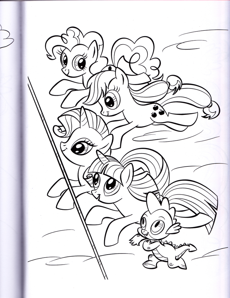 ponies racing mlp coloring book by kwark85 - Mlp Coloring Book