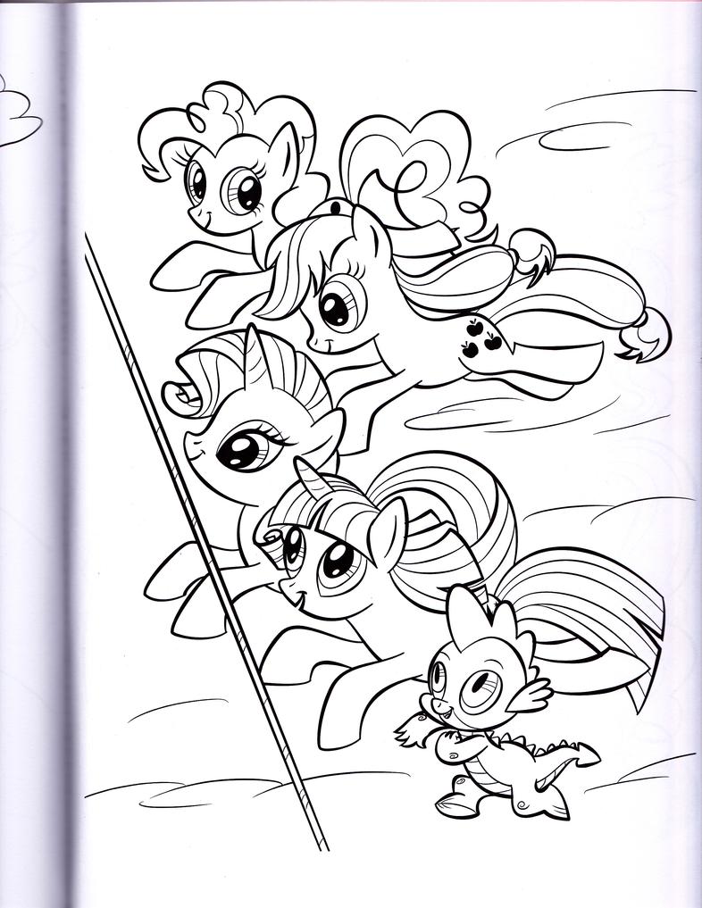 ponies racing mlp coloring book by kwark85 - Mlp Coloring Book
