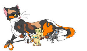 Sorreltail and her kits