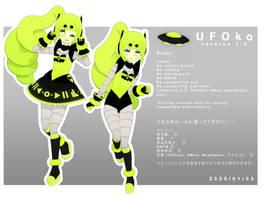 UFOko v1.0 (MMD Model DL)