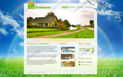 Farmhouse website  -  For sell by designer-hassan