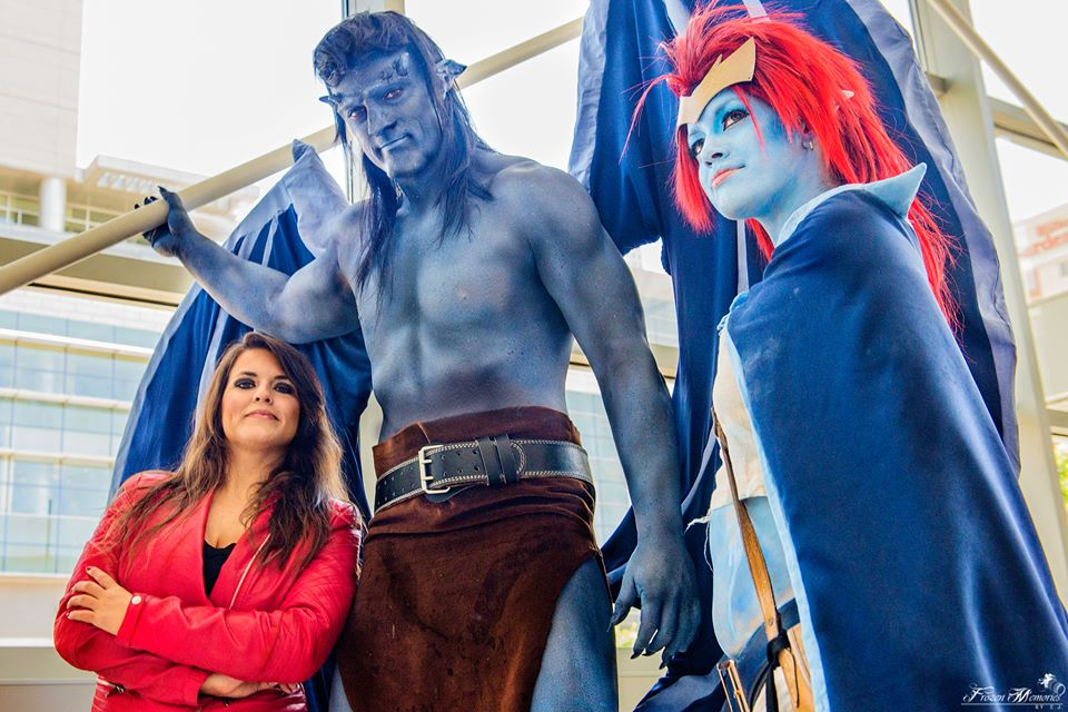 Gargoyles Elisa Maza, Goliath and Demona Cosplay by PhoenixForce85