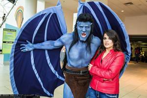 Goliath and Elisa Maza from Gargoyles