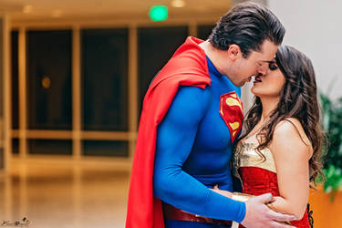 Superman and Wonder Woman Cosplay by PhoenixForce85