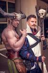 Adoribull Iron Bull and Dorian Dragon Age Cosplay