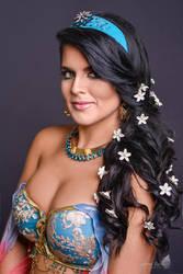 Princess Jasmine Flower Portrait