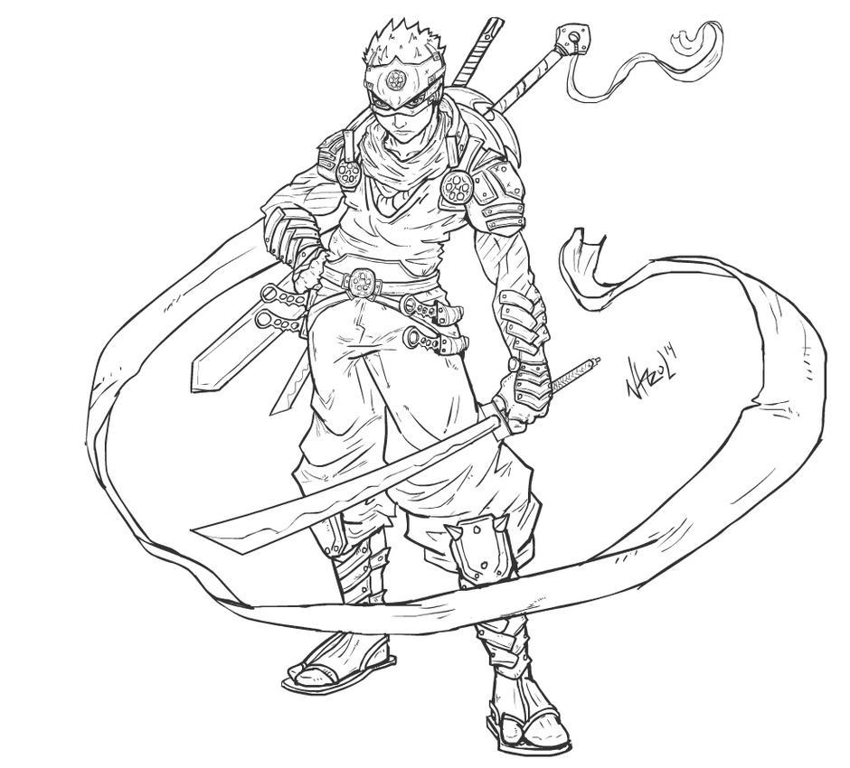 Line Art Ninja : Ken ogawa ninja blade by nhazul anims on deviantart