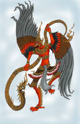 Garuda and Naga by dathaiclub