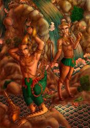 Kinnara and Norrasing by dathaiclub