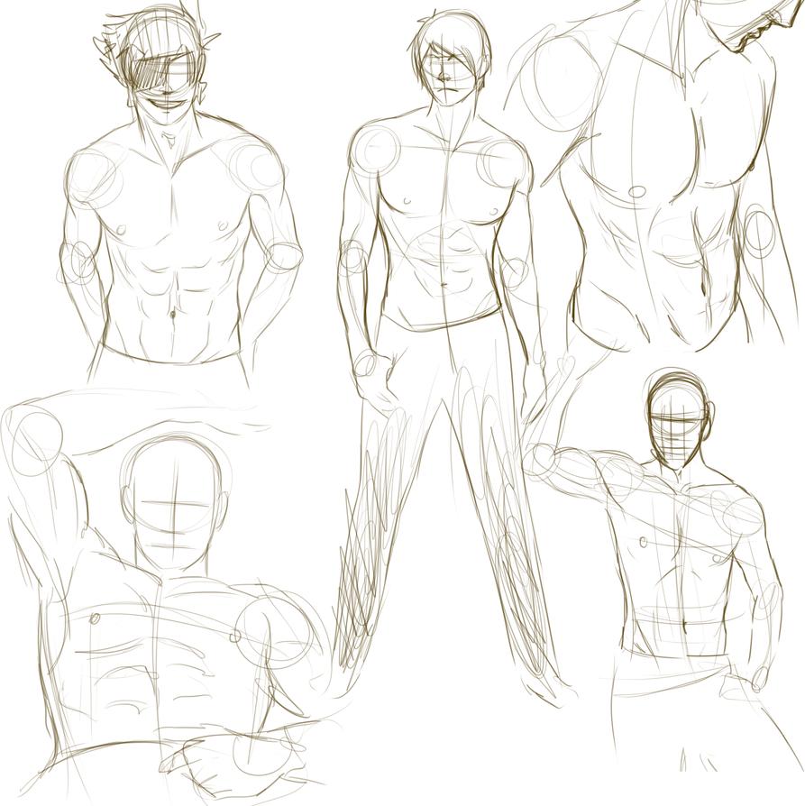 SKETCH: Sexy male torso practice by Wynt on DeviantArt