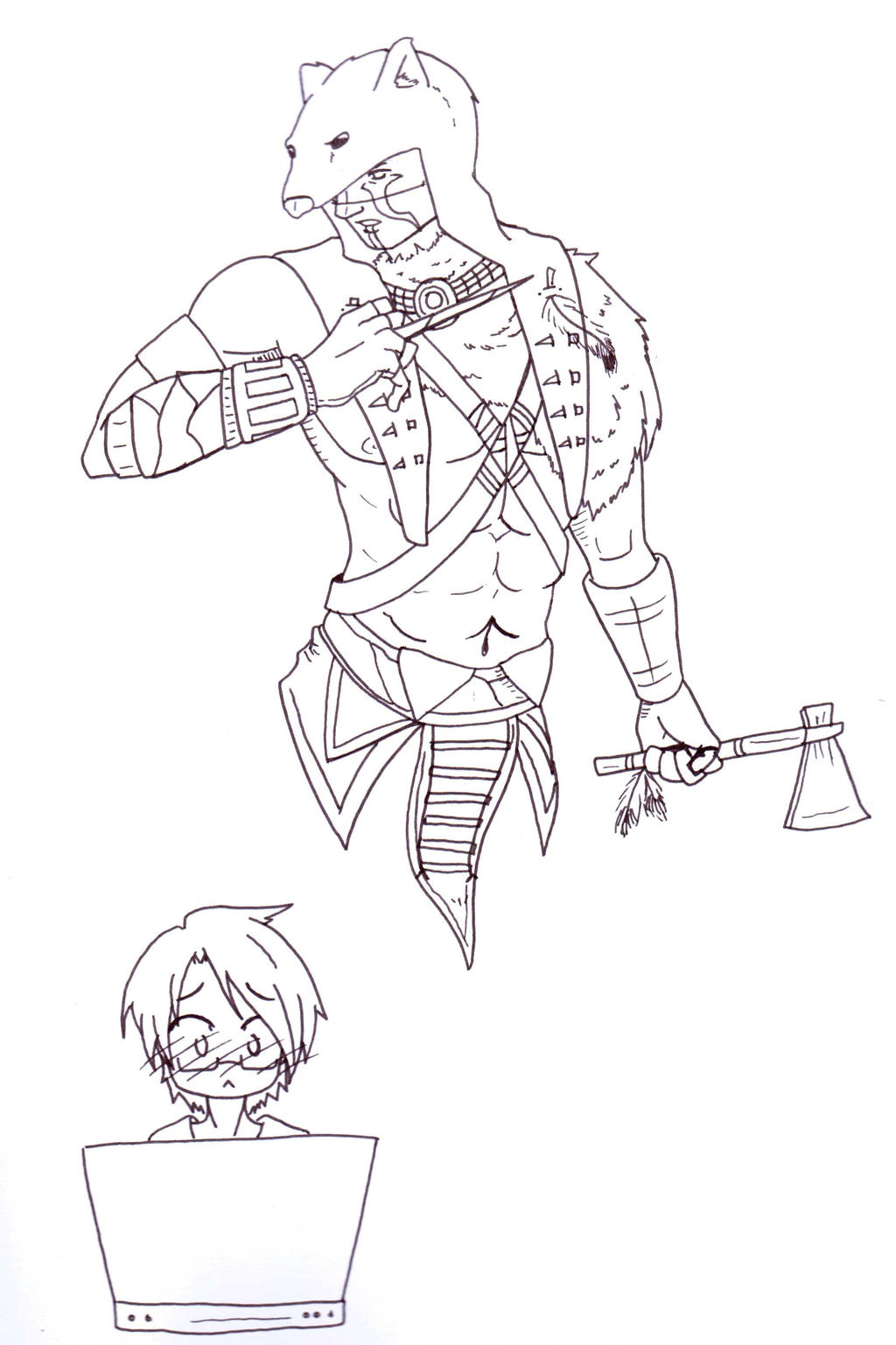 Line Art Game : Game reaction tokw line art by ookamiwarrior on