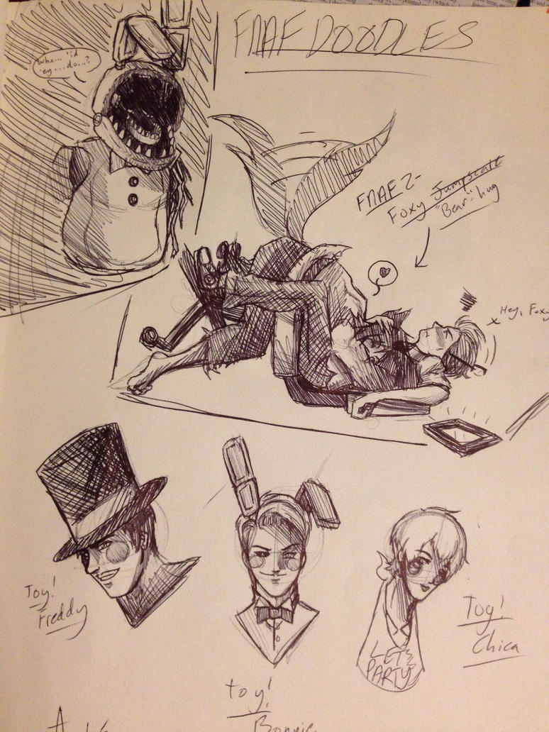 FNAF - Doodles 02 by OokamiWarrior1234