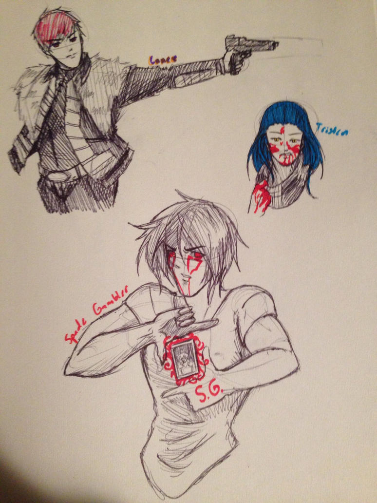 Male OC Sketches by OokamiWarrior1234