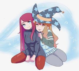 ipad artwork, Mia and Ari by HotaruSuzuka