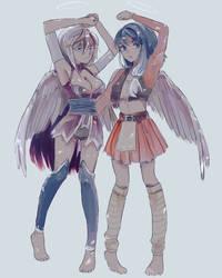 angels ! Ari and kolina by HotaruSuzuka
